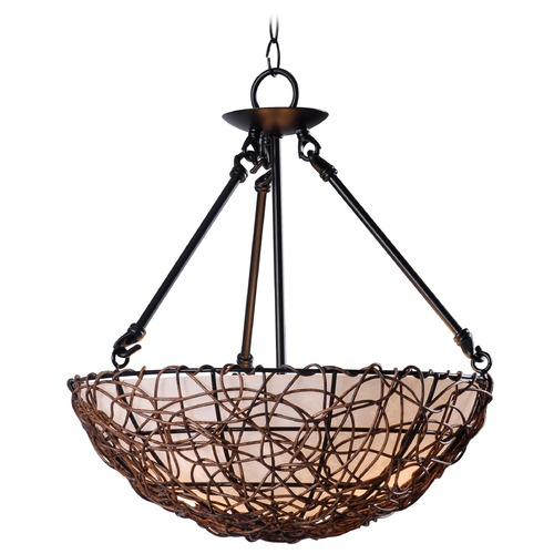 Kenroy Home Lighting Kenroy Home Lighting Thicket Rattan Semi-Flushmount Light 93307RAT