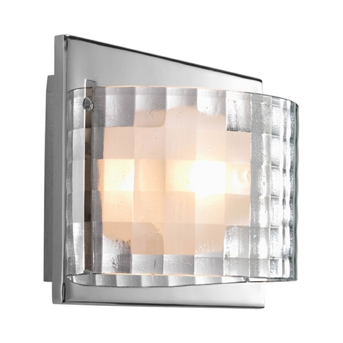 Progress Lighting Progress Polished Chrome Sconce Wall Light with Clear Glass P2823-15WB