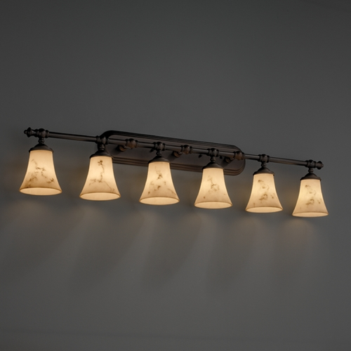 Justice Design Group Justice Design Group Lumenaria Collection Bathroom Light FAL-8526-20-DBRZ