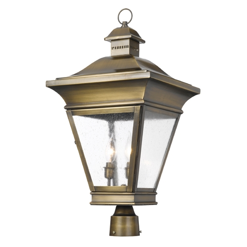 Elk Lighting Post Light with Clear Glass in Oiled Rubbed Brass Finish 5239-ORB