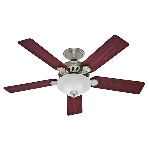 Hunter Fan Company Hunter Fan Company Five Minute Fan Brushed Nickel Ceiling Fan with Light 53085