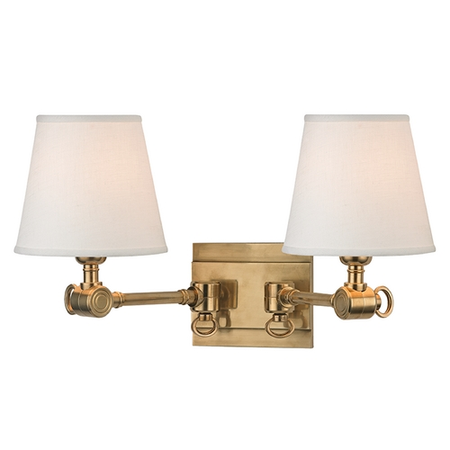 Hudson Valley Lighting Hudson Valley Lighting Hillsdale Aged Brass Swing Arm Lamp 6232-AGB