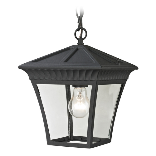 Cornerstone Lighting Cornerstone Lighting Ridgewood Matte Textured Black Outdoor Hanging Light 8411EH/65