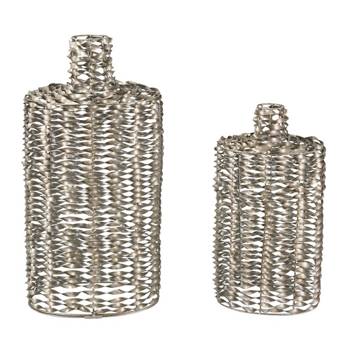 Sterling Lighting Set Of 2 Metal Work Vases 138-108/S2