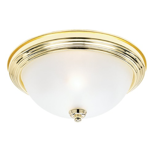 Sea Gull Lighting Sea Gull Lighting Ceiling Flush Mount Polished Brass LED Flushmount Light 7716491S-02