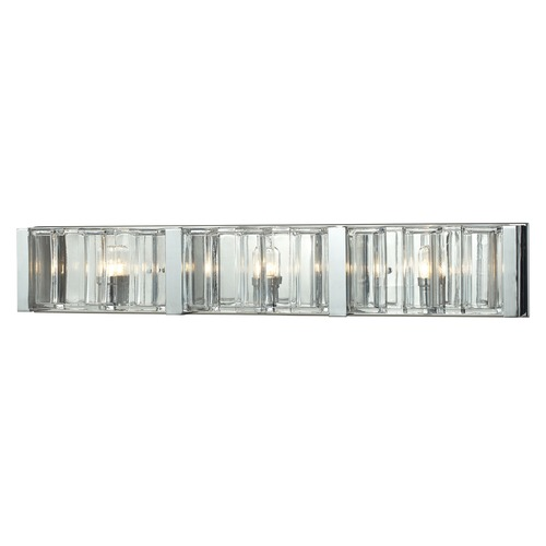 Elk Lighting Elk Lighting Corrugated Glass Polished Chrome Bathroom Light 11517/3