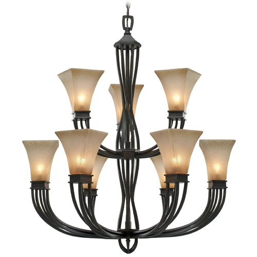 Golden Lighting Golden Lighting Genesis Roan Timber Chandelier 1850-9 RT