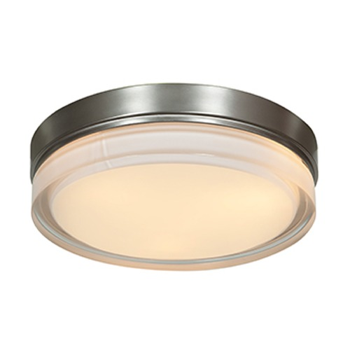 Access Lighting Access Lighting Solid Brushed Steel LED Flushmount Light 20775LEDD-BS/OPL