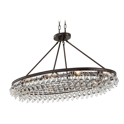 Crystorama Lighting Crystorama Lighting Calypso Vibrant Bronze Pendant Light 279-VZ