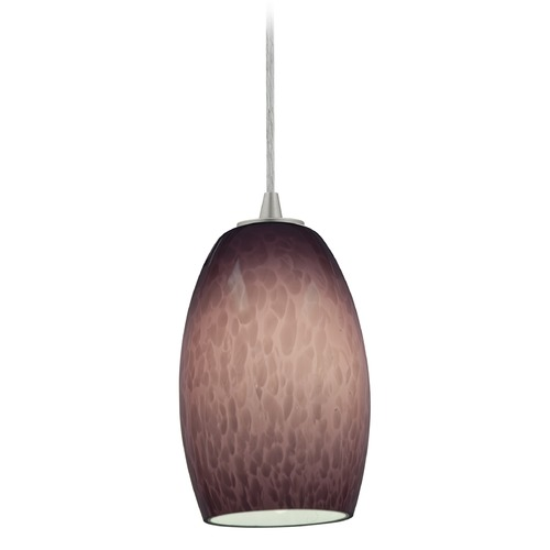 Access Lighting Access Lighting Chianti Brushed Steel Mini-Pendant Light with Oblong Shade 28078-4C-BS/PLC