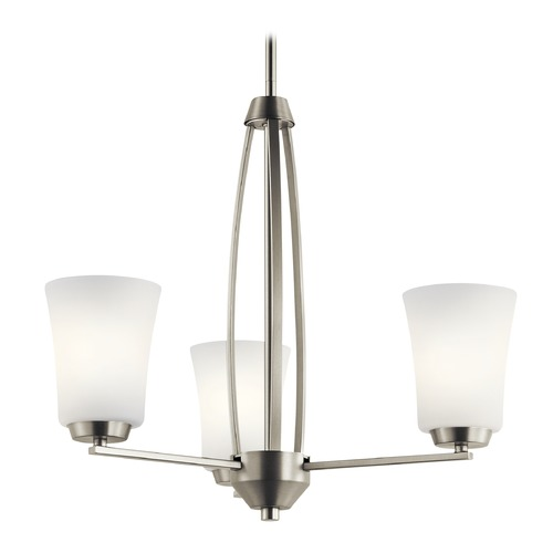 Kichler Lighting Transitional Chandelier Brushed Nickel Tao by Kichler Lighting 44050NI