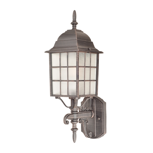 Maxim Lighting Outdoor Wall Light with Clear Glass in Rust Patina Finish 1050RP