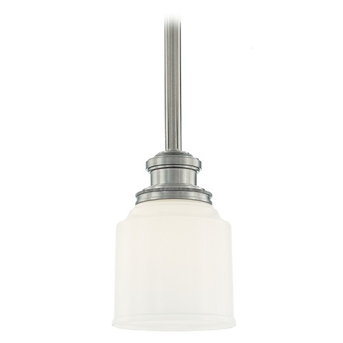 Hudson Valley Lighting Mini-Pendant Light with White Glass 3421-SN