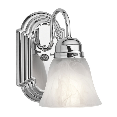 Kichler Lighting Kichler Sconce with Alabaster Glass in Chrome Finish 5334CH