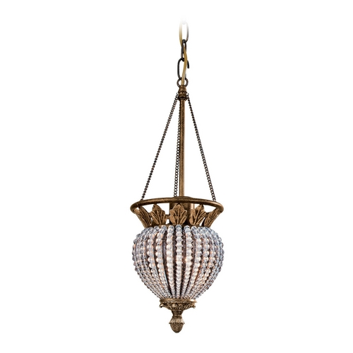 Crystorama Lighting Crystal Mini-Pendant Light 6725-WP
