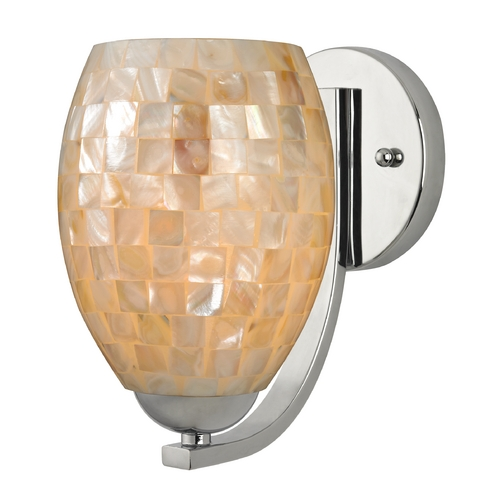 Design Classics Lighting Sconce with Mosaic Glass in Chrome Finish 585-26 GL1034