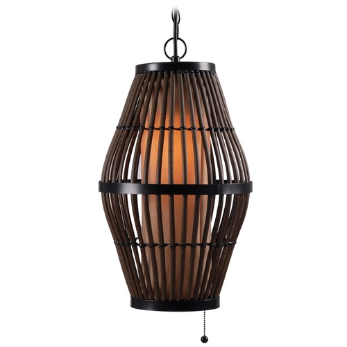 Kenroy Home Lighting Kenroy Home Lighting Biscayne Black Outdoor Hanging Light 93390RAT