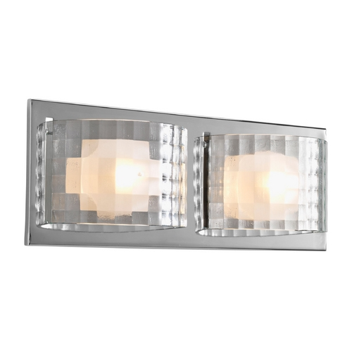Progress Lighting Progress Polished Chrome Bathroom Light with Clear Glass P2824-15WB