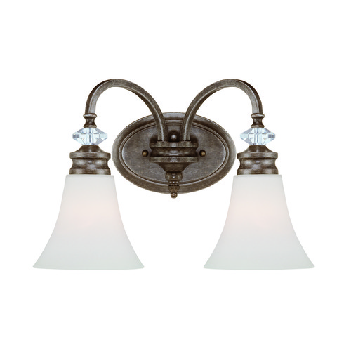 Jeremiah Lighting Jeremiah Boulevard Mocha Bronze, Silver Accents Bathroom Light 26702-MB