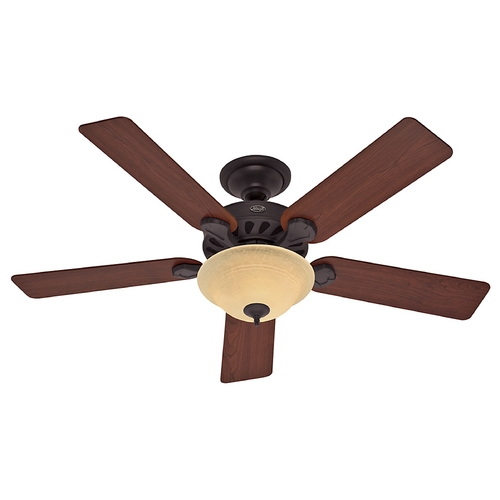 Hunter Fan Company Hunter Fan Company Five Minute Fan New Bronze Ceiling Fan with Light 53086