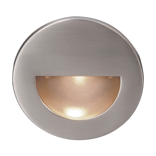 WAC Lighting WAC Lighting Brushed Nickel LED Recessed Step Light with White LED WL-LED300-C-BN