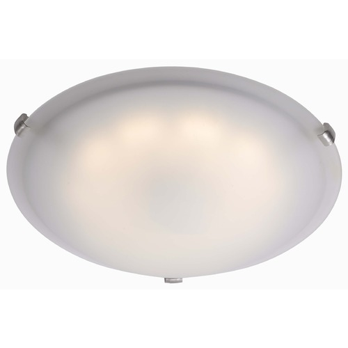 Kenroy Home Lighting Kenroy Home Lighting Aero Brushed Steel LED Flushmount Light 90675BS