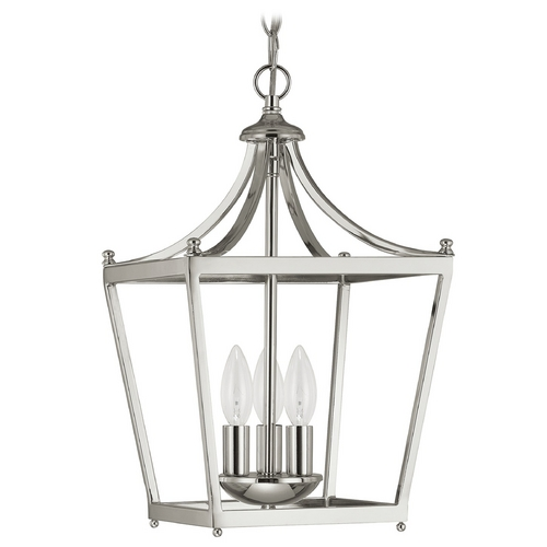 Capital Lighting Capital Lighting Polished Nickel Pendant Light 4036PN