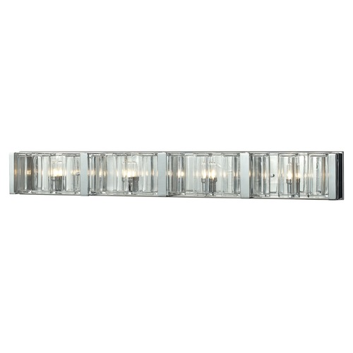 Elk Lighting Elk Lighting Corrugated Glass Polished Chrome Bathroom Light 11518/4