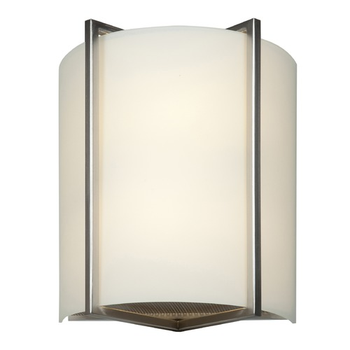 Access Lighting Access Lighting Vector Brushed Steel LED Sconce 20451LEDD-BS/OPL