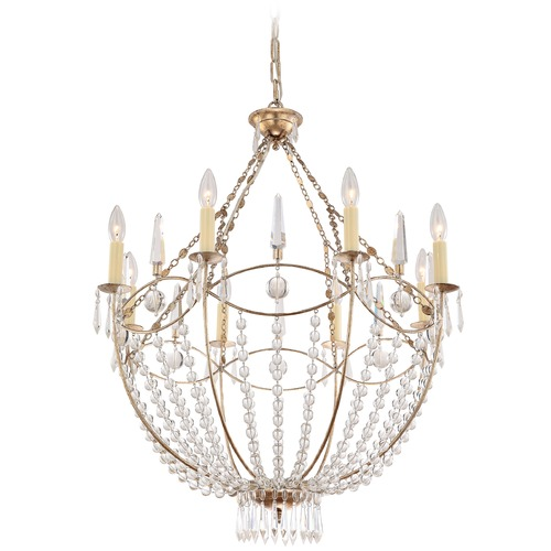 Crystorama Lighting Crystorama Lighting Waverly Distressed Twilight Crystal Chandelier 8308-DT