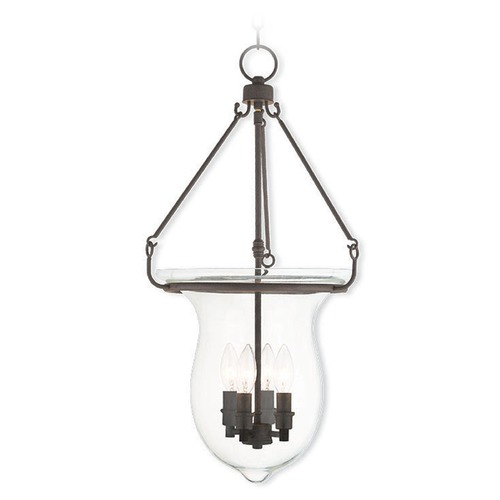 Livex Lighting Livex Lighting Canterbury Bronze Pendant Light with Bowl / Dome Shade 50298-07