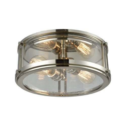 Elk Lighting Elk Lighting Coby Polished Nickel Flushmount Light 11850/2