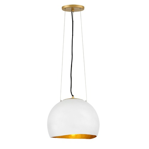 Hinkley Hinkley Nula Shell White Pendant with Gold Accents 35904SHW