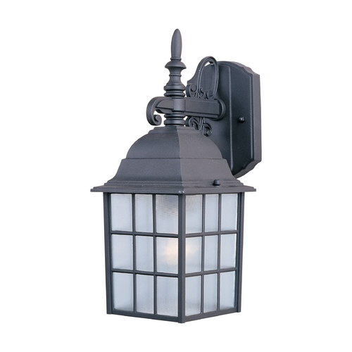 Maxim Lighting Outdoor Wall Light with Clear Glass in Black Finish 1051BK