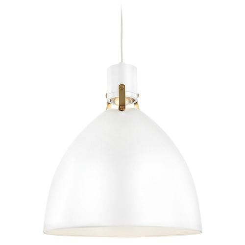 Feiss Lighting Feiss Lighting Brynne Flat White LED Barn Light with Bowl / Dome Shade P1443FWH-L1