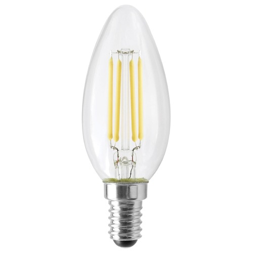 Satco Lighting Satco 4.5 Watt B11 LED Clear 350 Lumens 3000K European Base 120 Volt Dimmable S12115