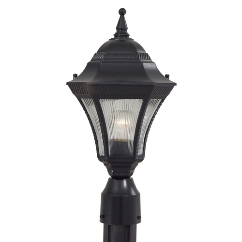Minka Lavery Post Light with Clear Glass in Heritage Finish 8206-94