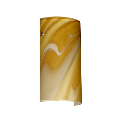 Besa Lighting Modern Sconce Wall Light Honey Glass. Satin Nickel by Besa Lighting 7042HN-SN