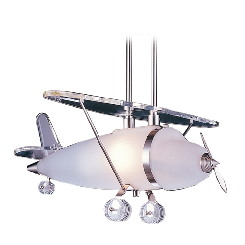 Elk Lighting Pendant Light with White Glass in Satin Nickel Finish 5051/1