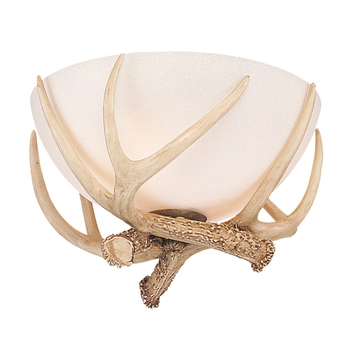 Monte Carlo Fans Light Kit with Beige / Cream in Antler Bowl Light Kit Finish MC79-L