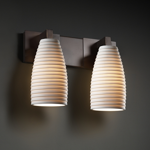 Justice Design Group Justice Design Group Limoges Collection Bathroom Light POR-8922-28-SAWT-DBRZ