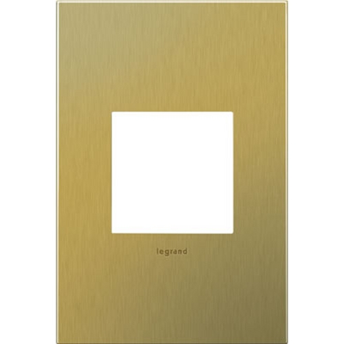 Legrand Adorne Legrand Adorne Brushed Brass 1-Gang Switch Plate AWC1G2BB4