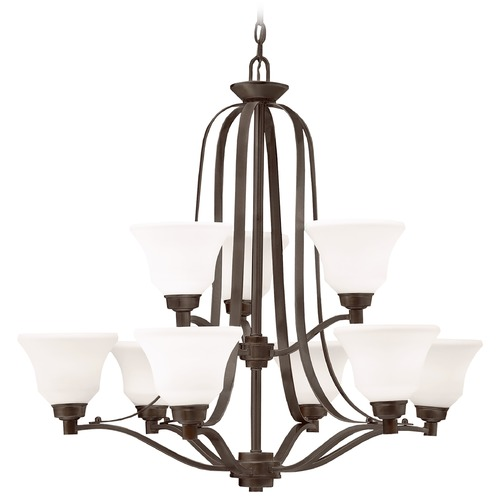 Kichler Lighting Kichler Chandelier with White Glass in Olde Bronze Finish 1784OZ