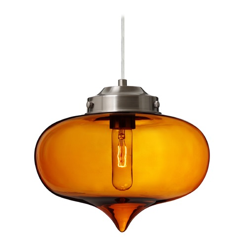 Besa Lighting Besa Lighting Mira Satin Nickel Pendant Light 1JT-MIRAAM-SN