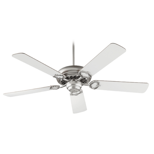 Quorum Lighting Quorum Lighting Monticello Satin Nickel Ceiling Fan Without Light 17525-65