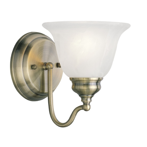 Livex Lighting Livex Lighting Essex Antique Brass Sconce 1351-01