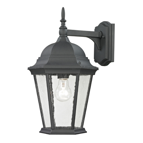 Cornerstone Lighting Cornerstone Lighting Temple Hill Matte Textured Black Outdoor Wall Light 8101EW/65