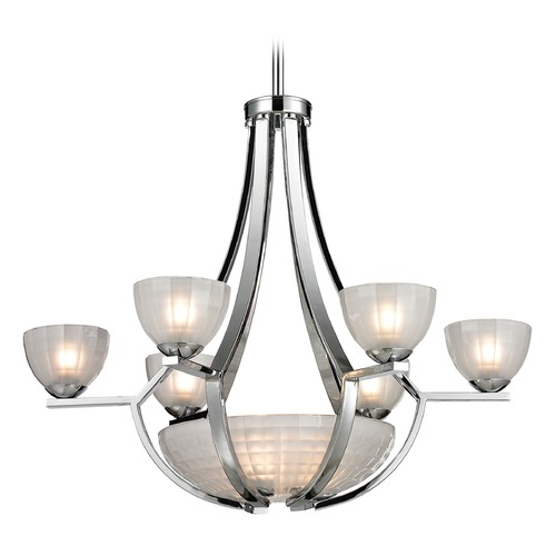 Elk Lighting Elk Lighting Sculptive Polished Chrome Chandelier 11764/6+3