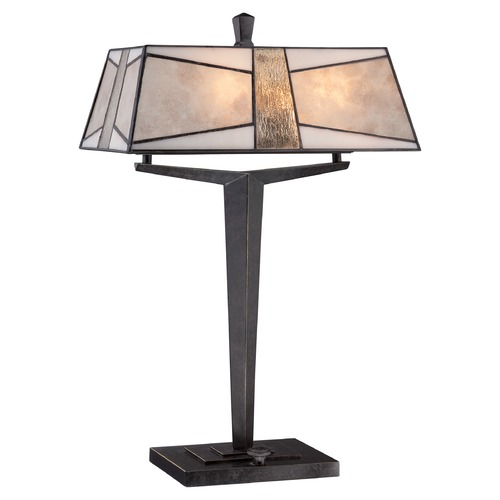 Quoizel Lighting Quoizel Alistar Imperial Bronze Table Lamp with Rectangle Shade MC1862TIB