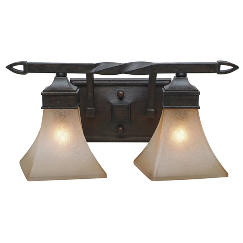 Golden Lighting Golden Lighting Genesis Roan Timber Bathroom Light 1850-BA2 RT